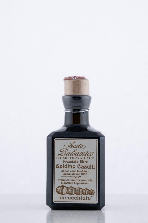 Aceto balsamico bottiglia quadra IGP invecchiato